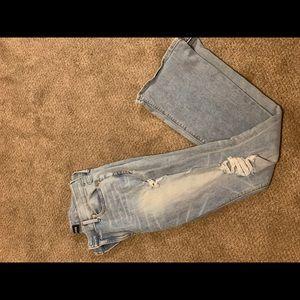 Express Denim ripped jeans Sz 12